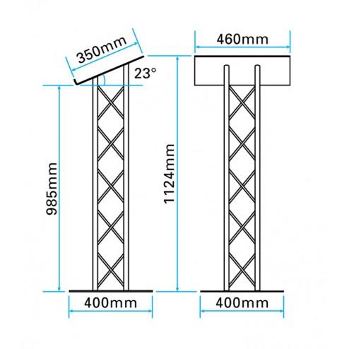 Metal lectern size