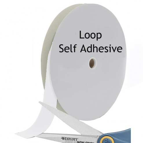 Loop nylon with self adhesive backing