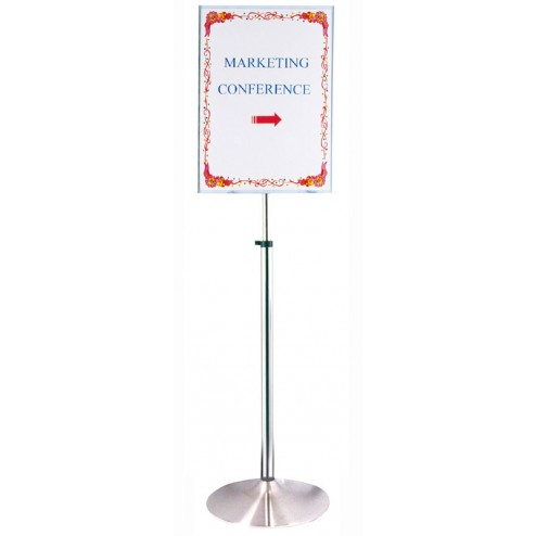 Height adjustable sign
