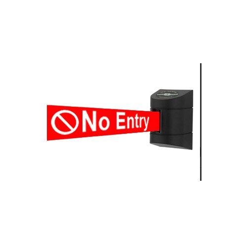 no entry logo belt barrier - - Tensator