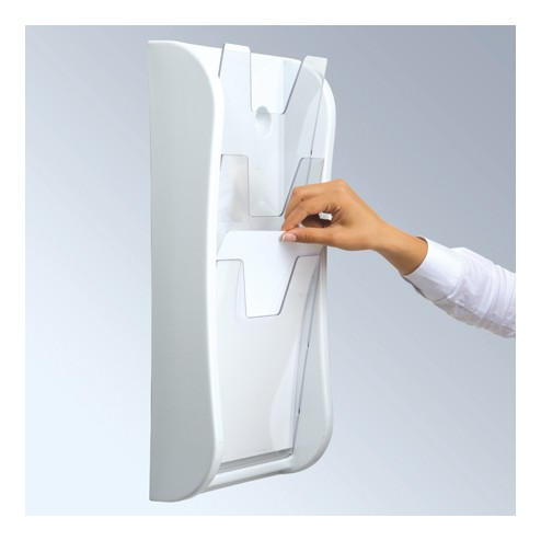 3xA4 Wall Mounted Literature Dispenser