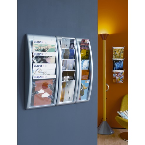 A4 Wall Mounted Brochure Holder in situ