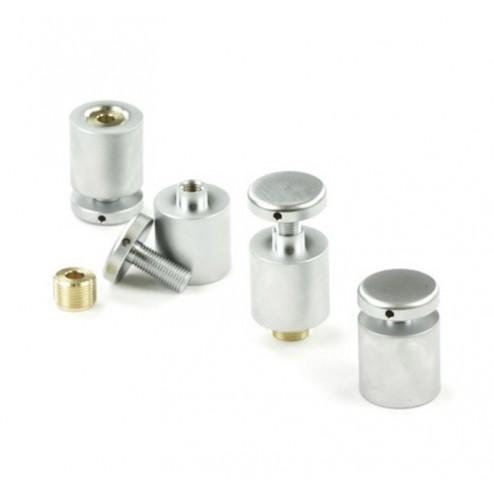 Satin Aluminium Standoff Conectors