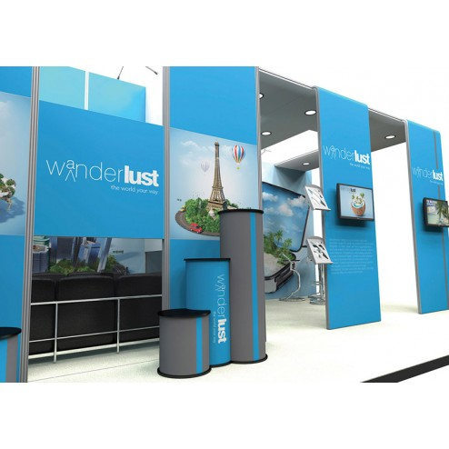 Vector large exhibition stand