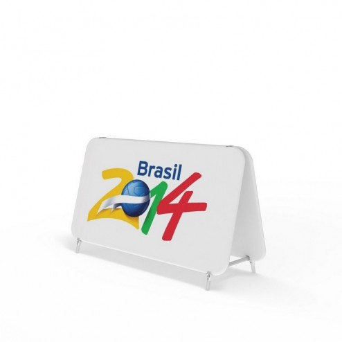 Medium Size of the Double Sided Banner Frames With Stretched Fabric Graphics