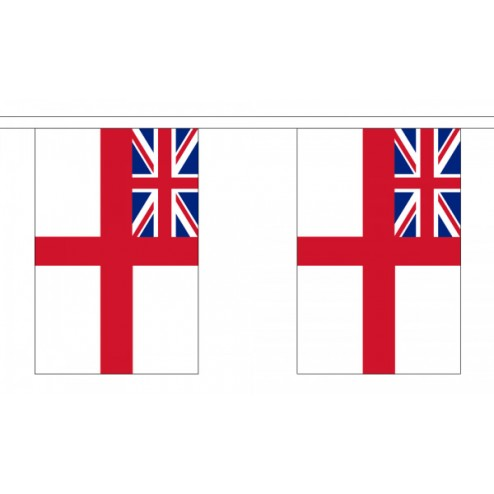 White Ensign Bunting - 10 Flags