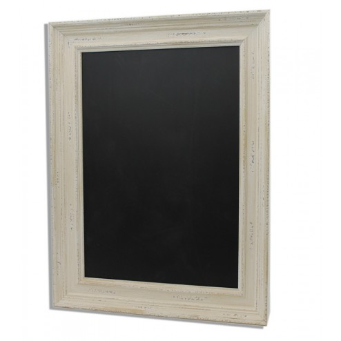 White frames chalkboards