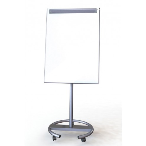 Grey mobile whiteboard