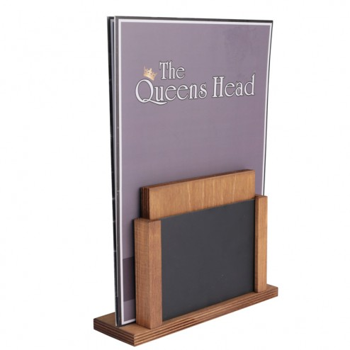 Any size menu holder