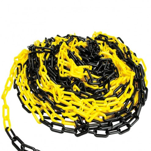 Yellow and Black plastic chain