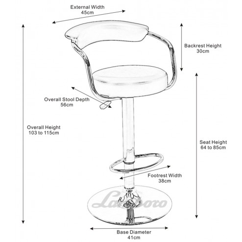 Dimensions of the bar stall