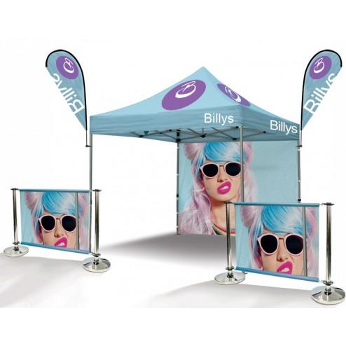 Outdoor Event Tent & Cafe Barrier Bundle