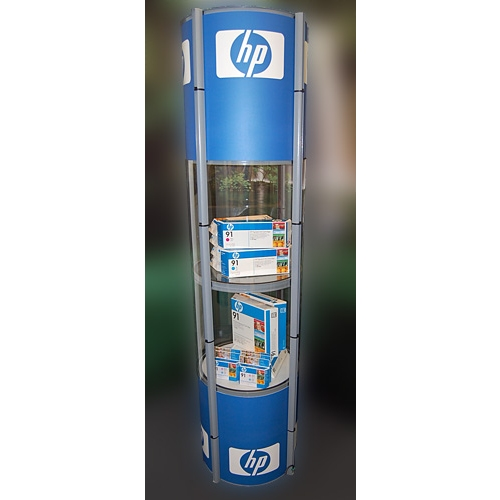 Portable Exhibition Display Cases : Pop up portable display cases trade show exhibit