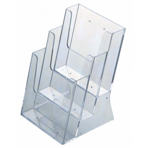 Stacked Perspex Brochure Holders - 3xA4