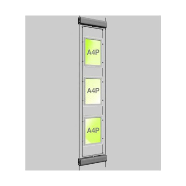 3xA4 Rotating LED Cable Window Display