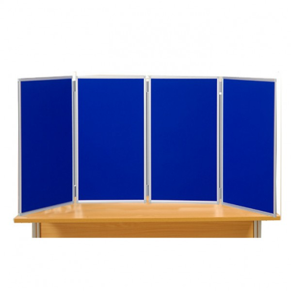 4 Panel Table Top Panel Display - Aluminium Frame