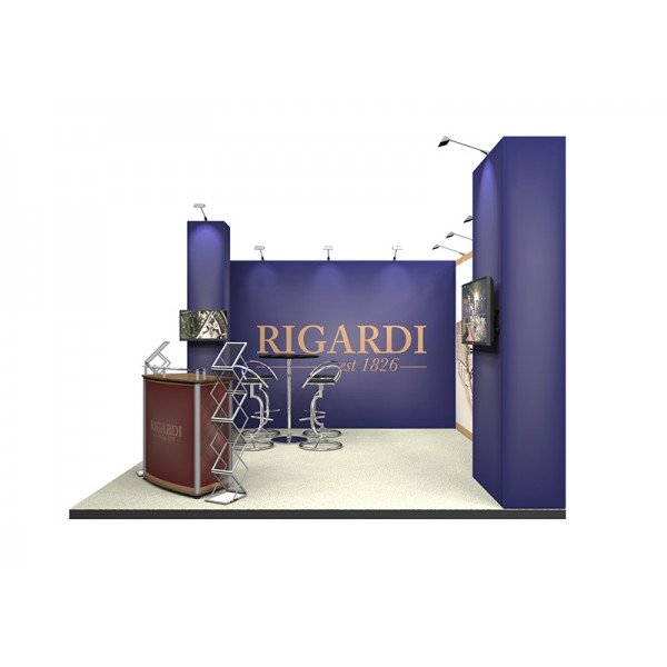 Linear exhibition stand