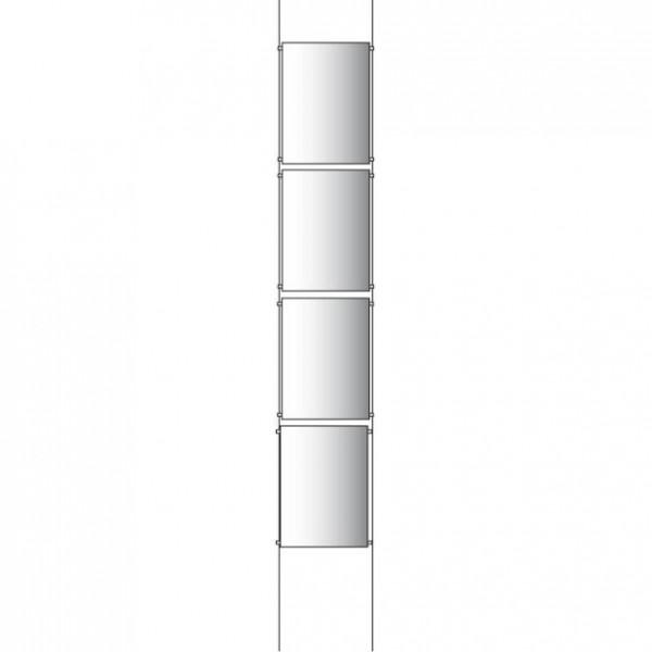 4x A2 Poster Holder Kit