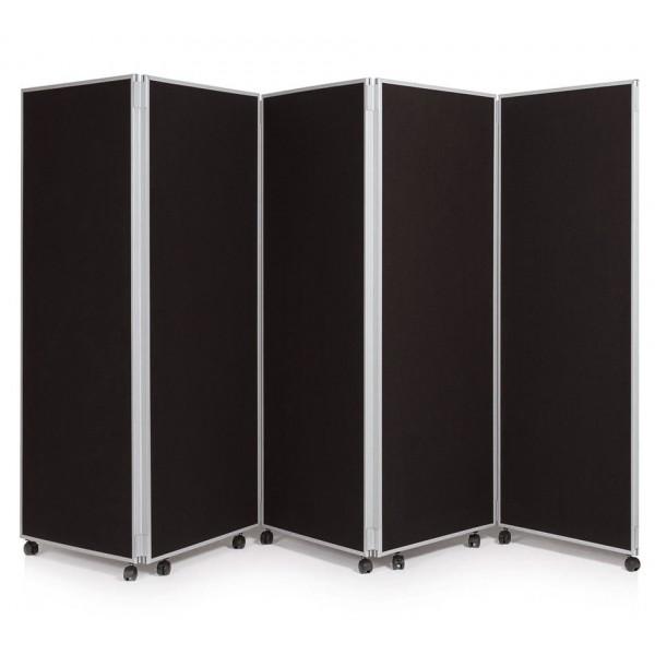 1500mm High Folding Office Partitioning Divider - Black