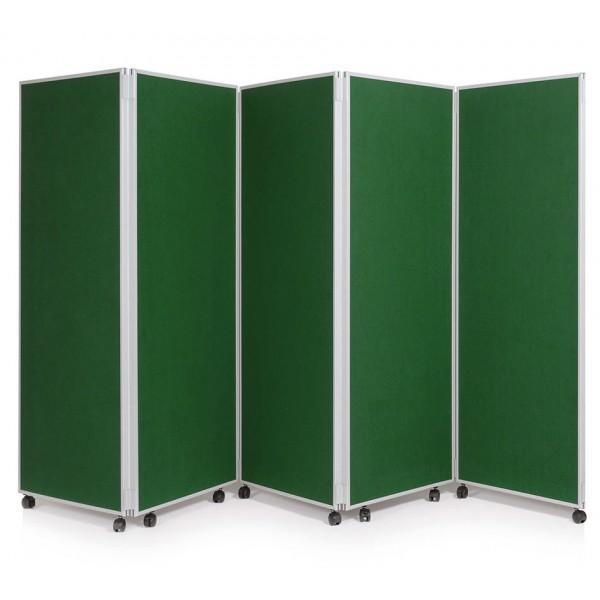 1500mm High Folding Office Partitioning Divider - Emerald Green