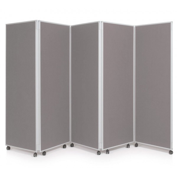 1500mm High Folding Office Partitioning Divider - New Grey