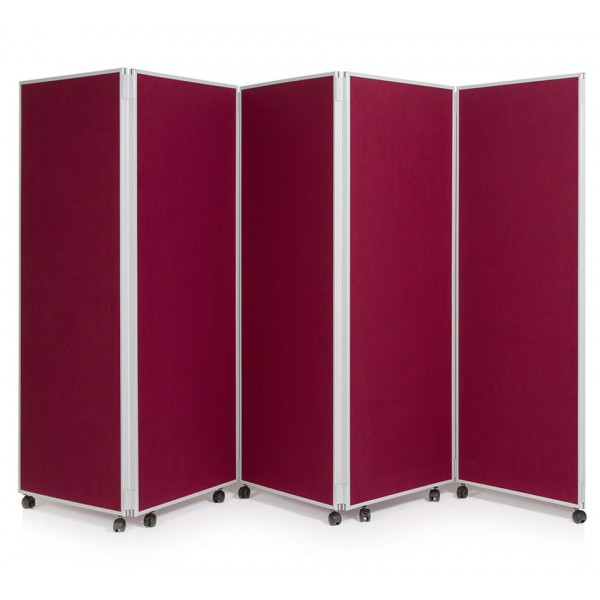 1500mm High Folding Office Partitioning Divider - Plasma Red