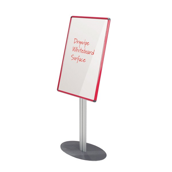 Whiteboard Notice Board - Red