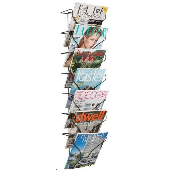 7xA4 Wire Wall Mounted Literature Rack