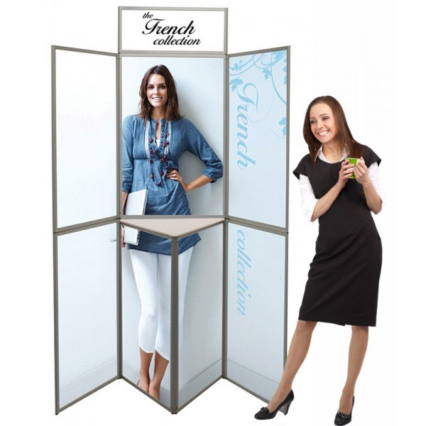 Heavy Duty Aluminium 7 Panel Folding Display with Graphics