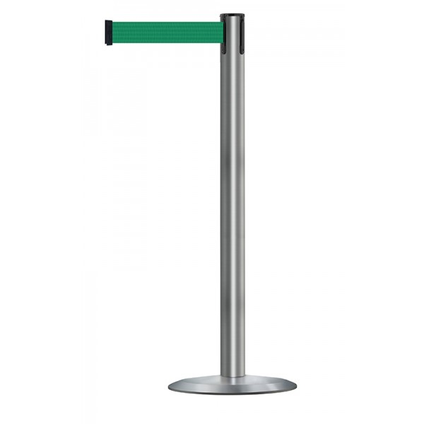 Brushed Stainless Steel Post - Green Tape