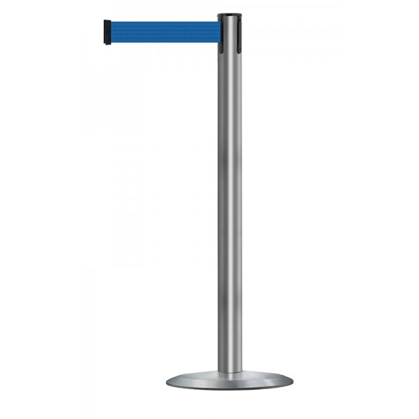 Brushed Stainless Steel Post - Blue Tape