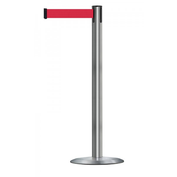 Brushed Stainless Steel Post - Red Tape