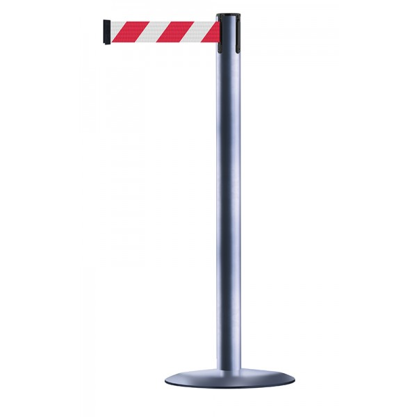 Silver Post - Red / White Chevrons
