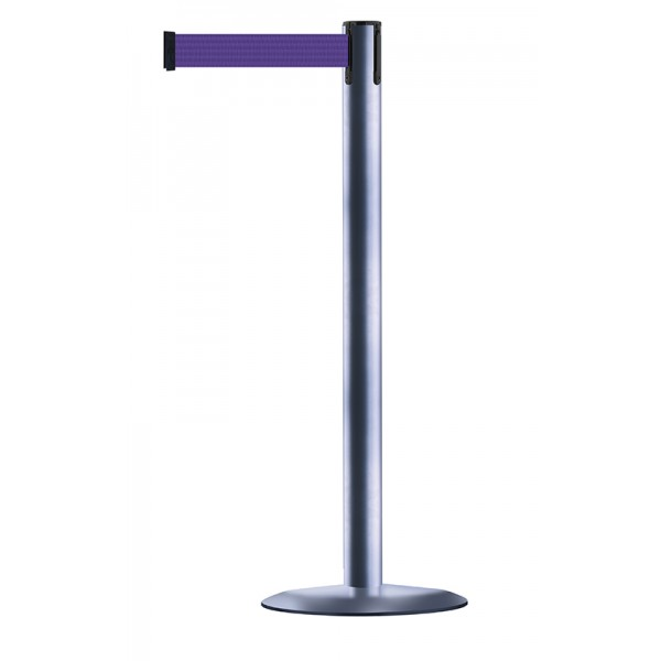 Brushed Stainless Steel Post - Purple Tape