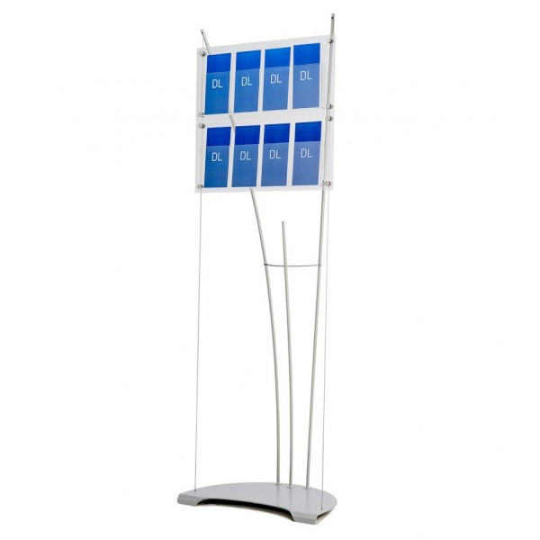 8x 1/3 A4 professional literature display stand