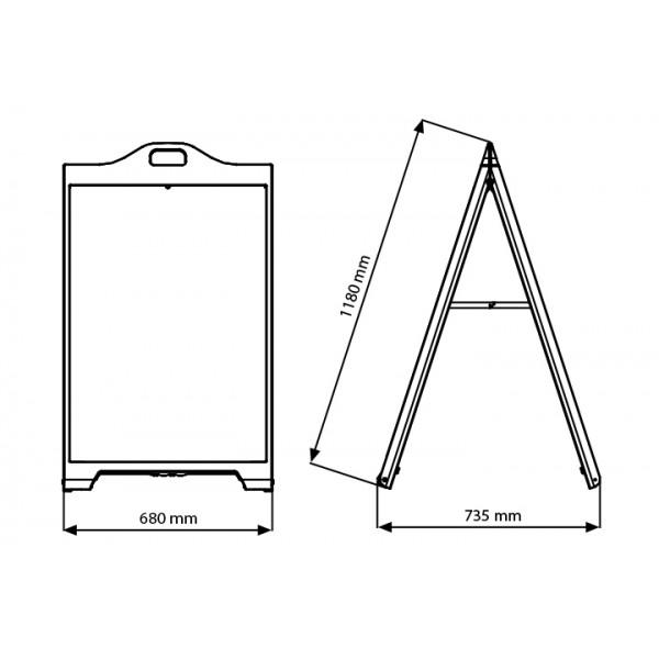 Plastic A-Frame Board Dimensions