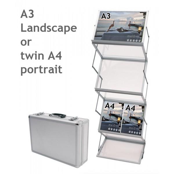 12 x A4 portrait or 6 x A3 landscape