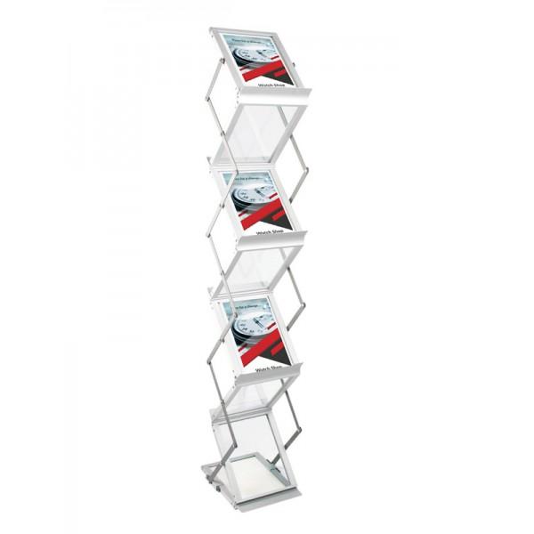 Folding Seven Pocket A5 Literature Rack