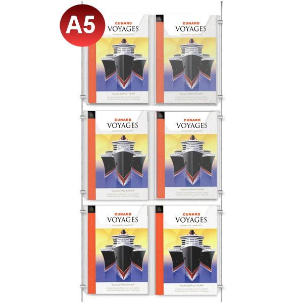 6x A5 Leaflet Holder Kit