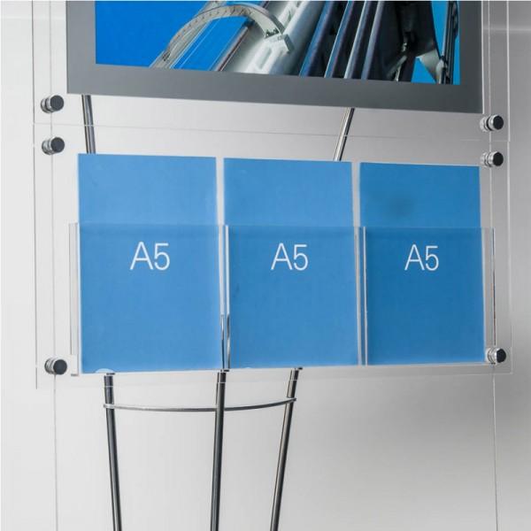 3 A5 acrylic pockets