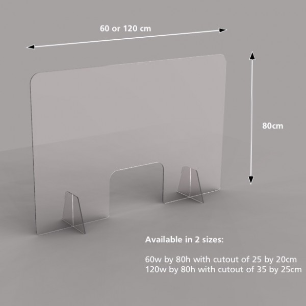 Acrylic safety screen dimensions