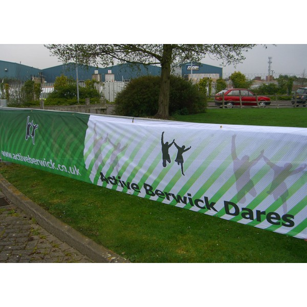 Aero material ideal for Fence Banners