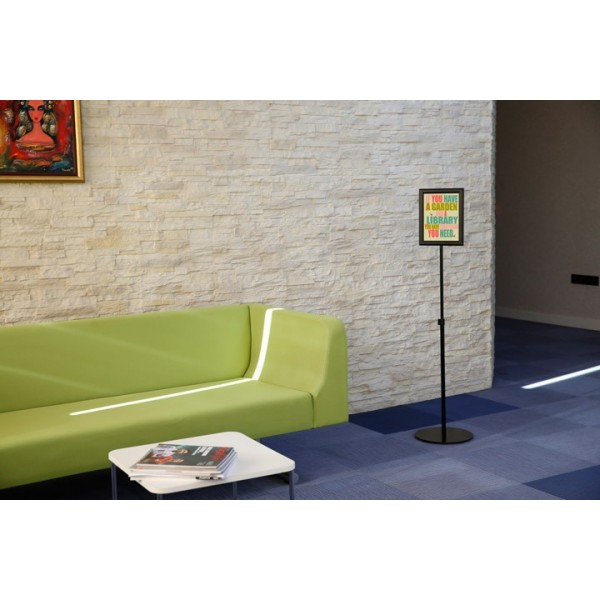 The poster holder is perfect for waiting areas and receptions