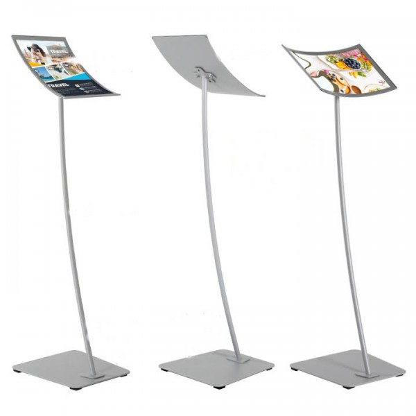 A3/A4 Curved Floor Standing Menu Board