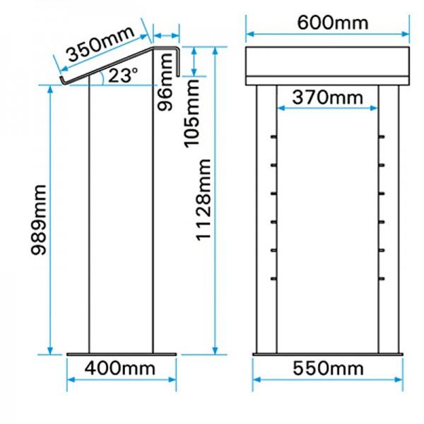 Aluminium Media Cabinet Lectern Dimensions