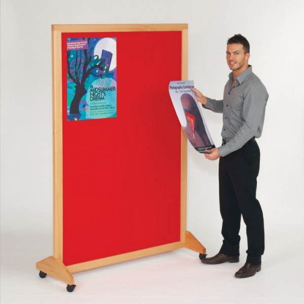 Wooden Mobile Noticeboard