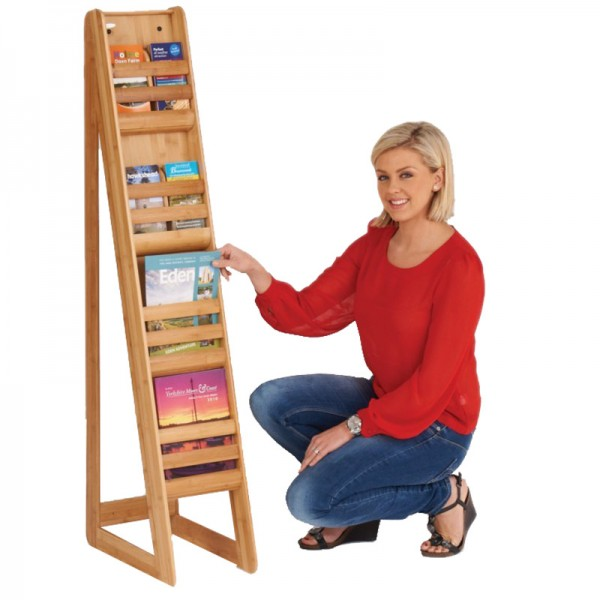 Bamboo literature rack