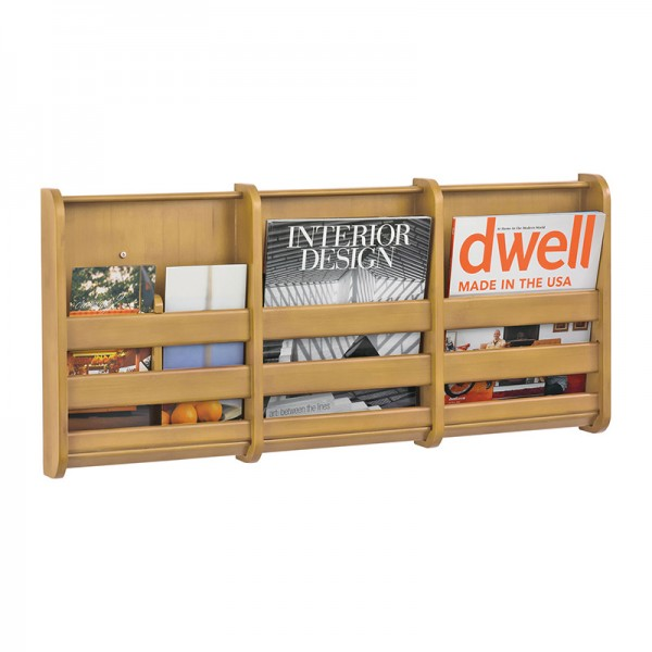 Bamboo Wall Mounted Literature Dispenser - 3xA4
