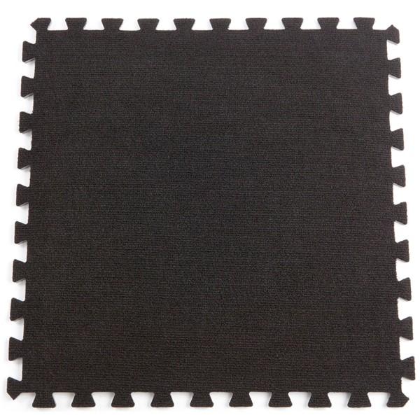 Black exhibition carpet flooring