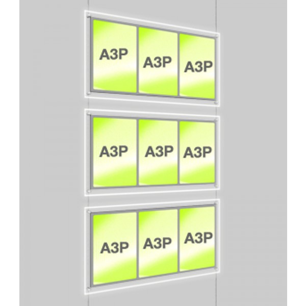 A3 Illuminated Estate Agent Display